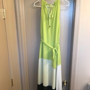Vince Camuto neon colorblock dress size 4